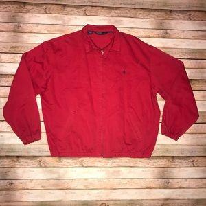 Vintage Polo Ralph Lauren red Jacket Size XL